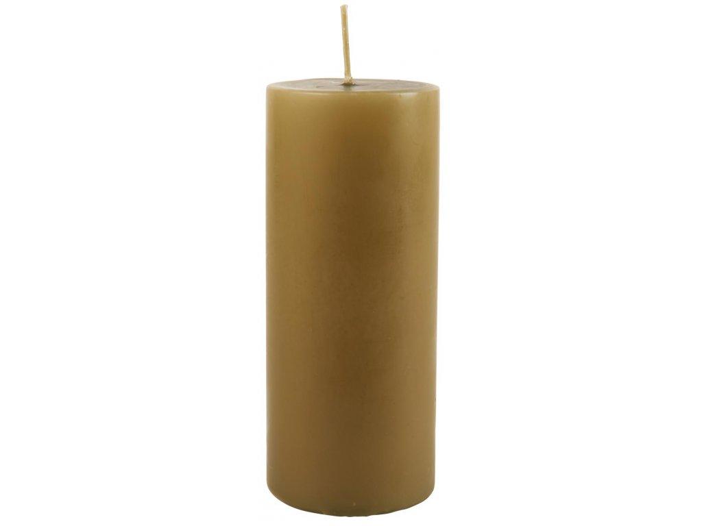 sloupová svíčka olivová