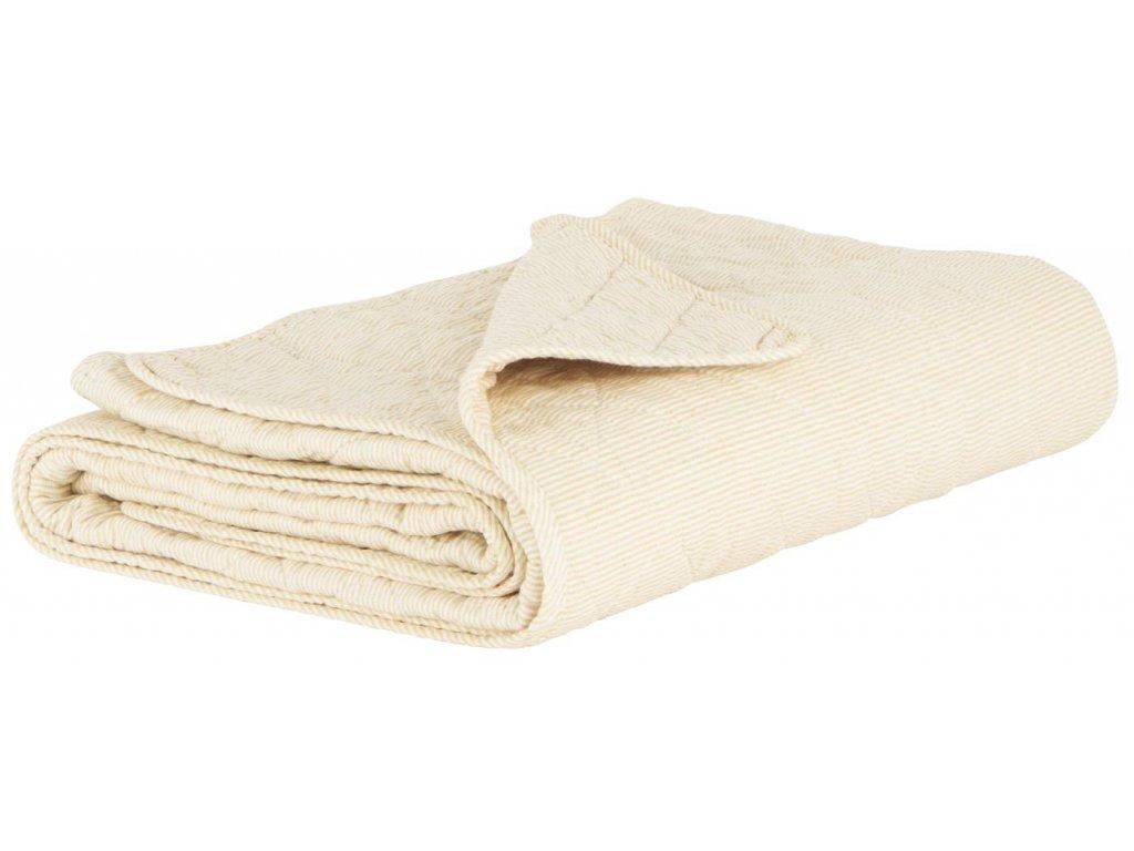 Bavlněná deka žluto-bílá Ib Laursen