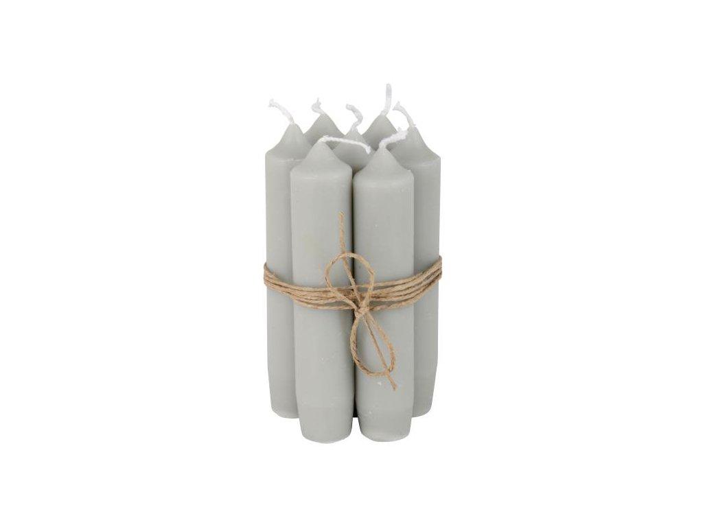 stolní svíčka světle šedá
