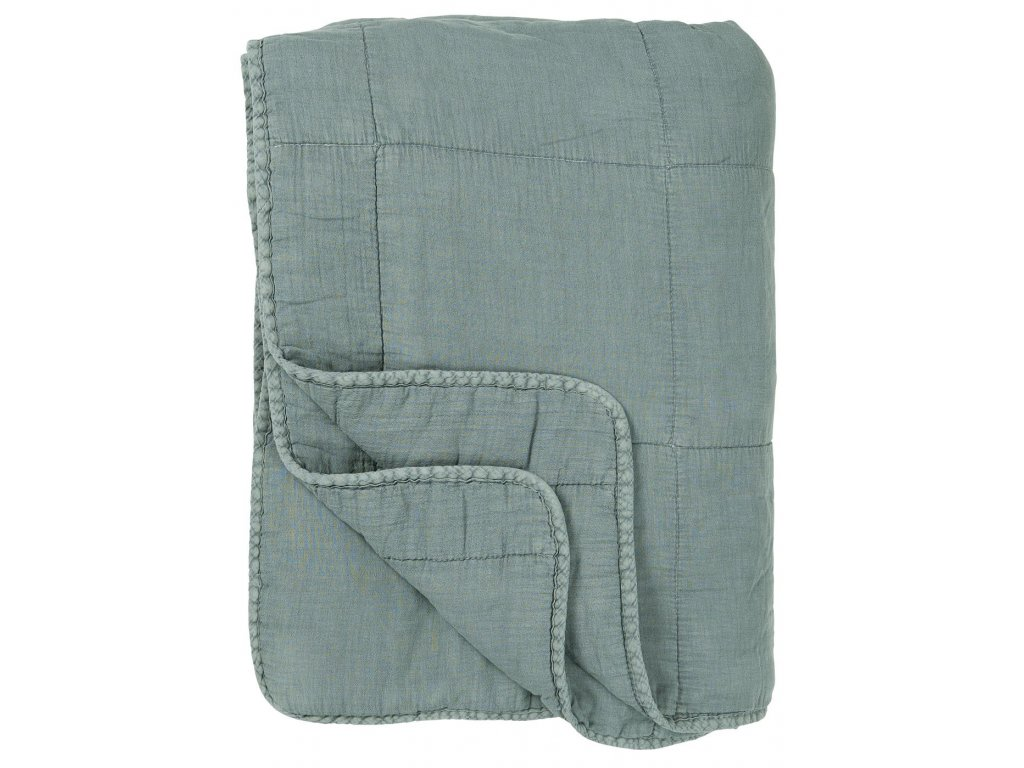 Bavlněná deka popelavě modrá