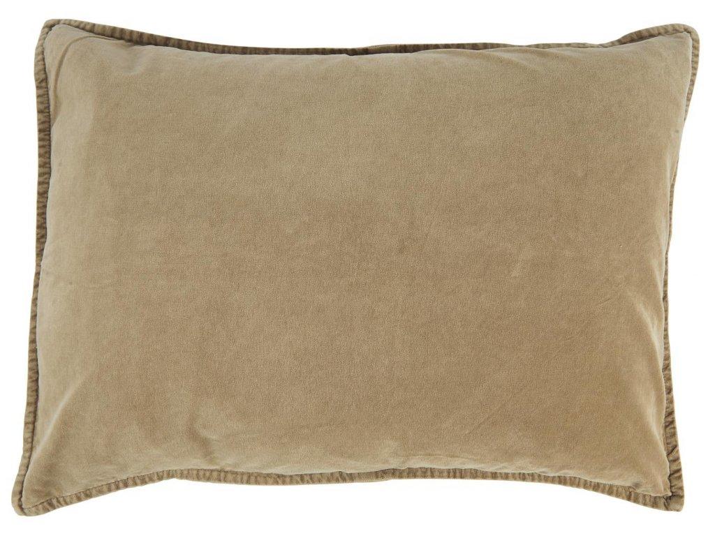 Sametový povlak na polštář koňakový
