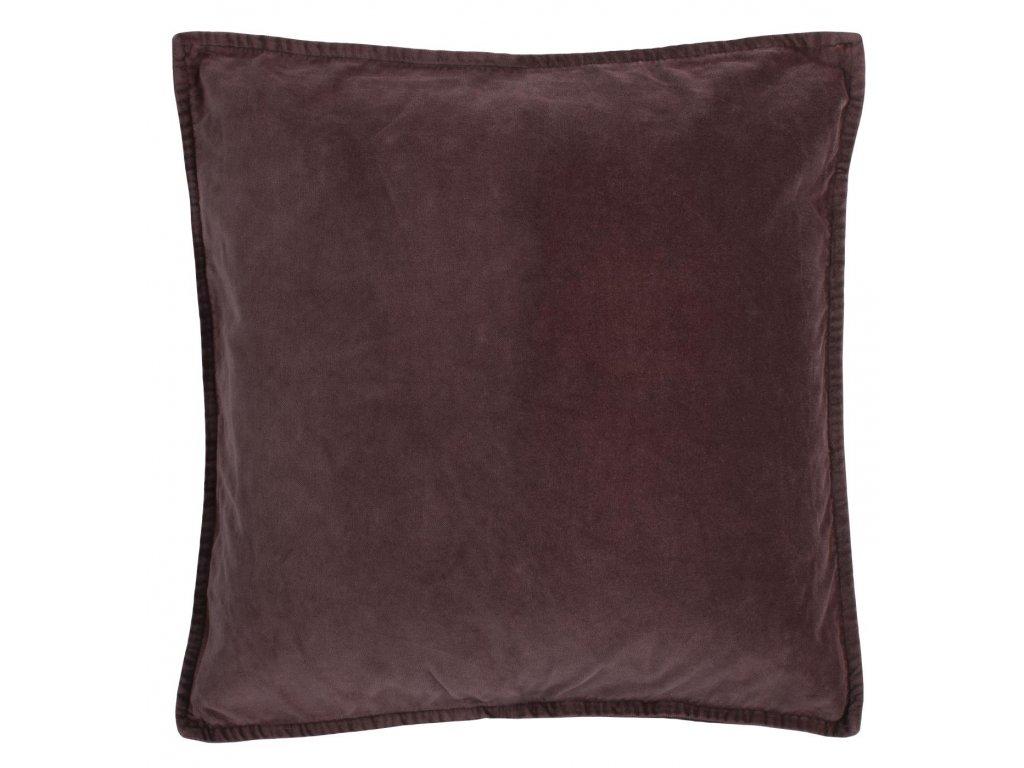 Sametový povlak na polštář tmavě fialový