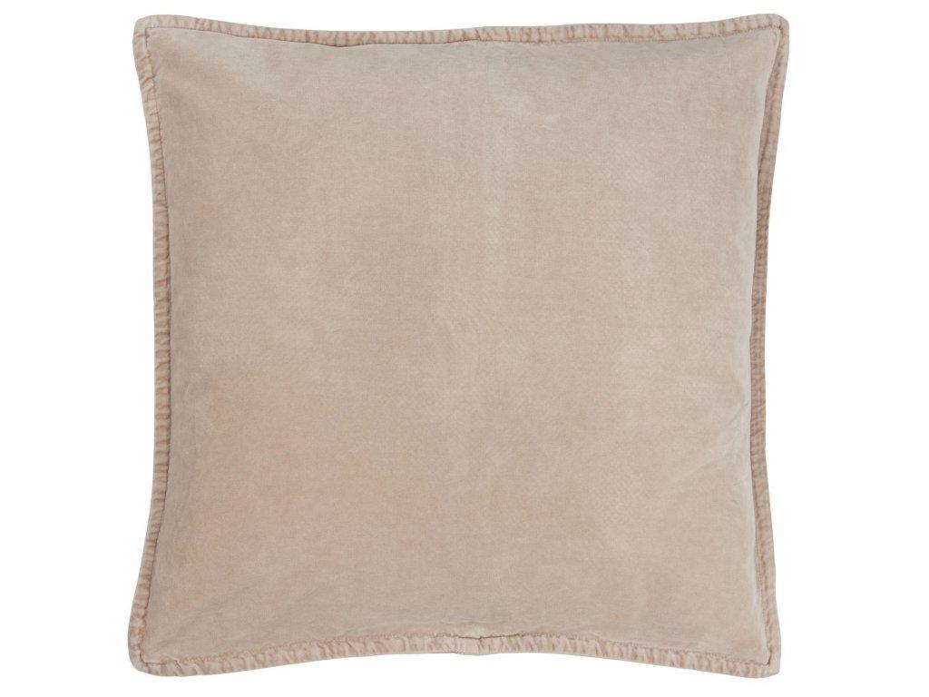 Sametový povlak na polštář barva kouře