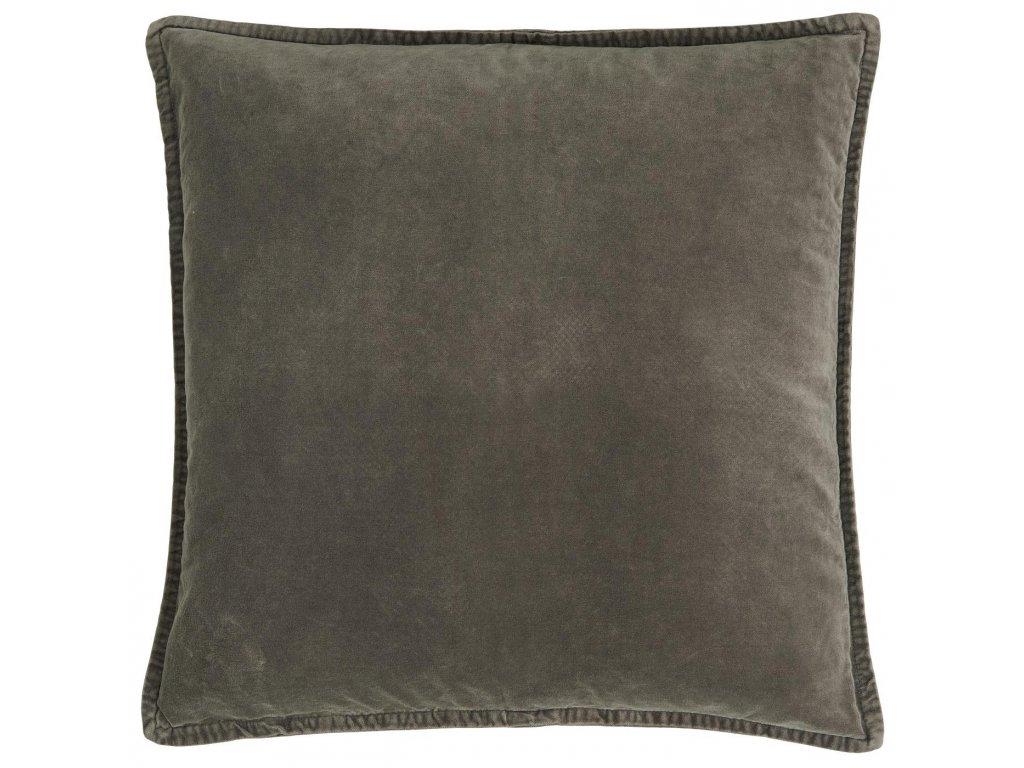 Sametový povlak na polštář hnědý