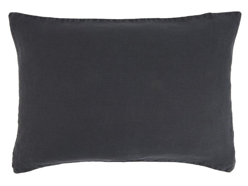 Lněný povlak na polštář tmavě modrý