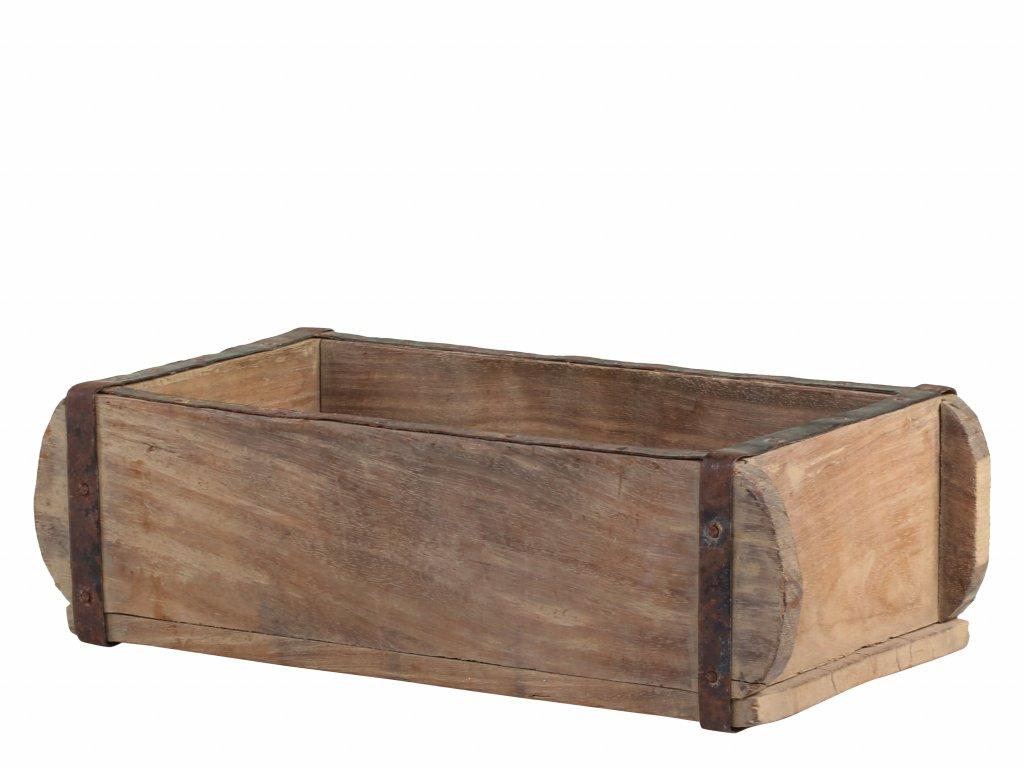 Starý dřevěný úložný box Unique