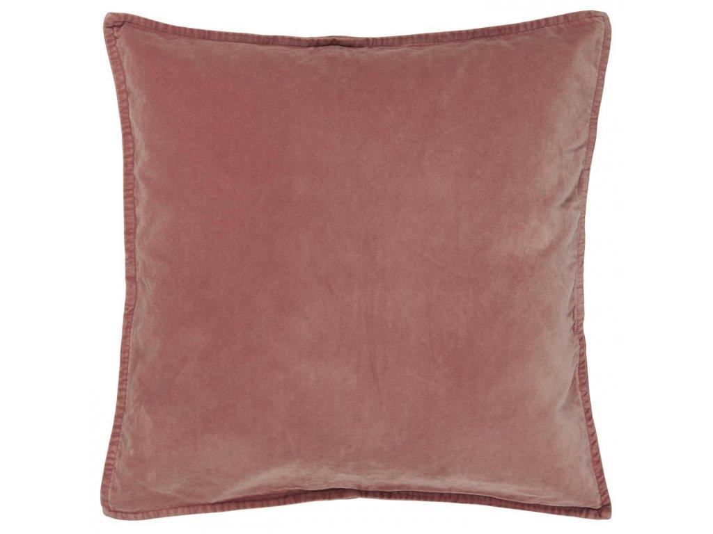 Sametový povlak na polštář barvy bledé růže Ib Laursen