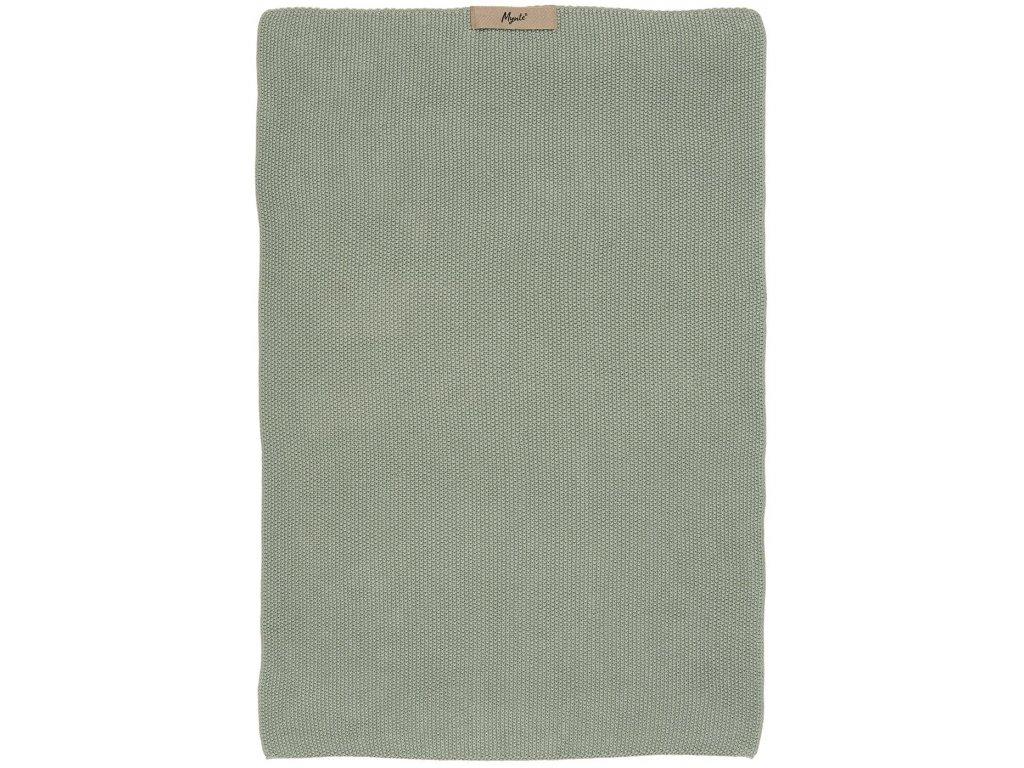 Bavlněný pletený ručník Mynte Dusty Green Ib Laursen