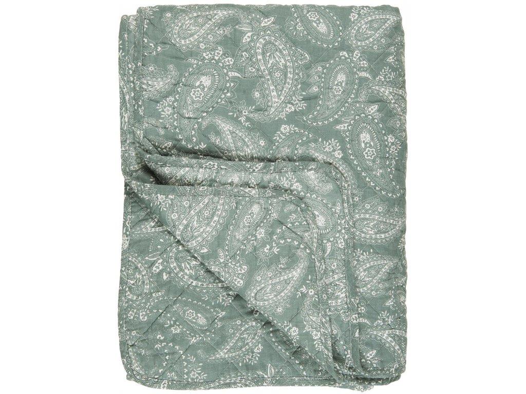 Bavlněná deka zelená s perskými motivy