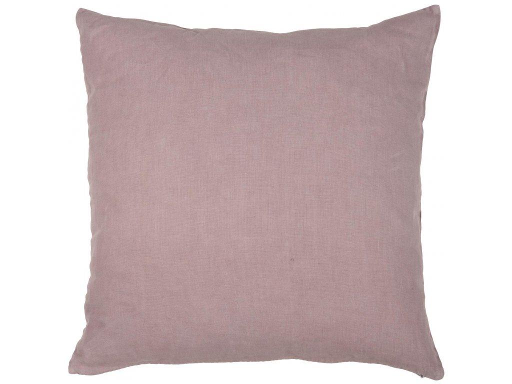 Lněný polštář popelavě růžový Ib Laursen