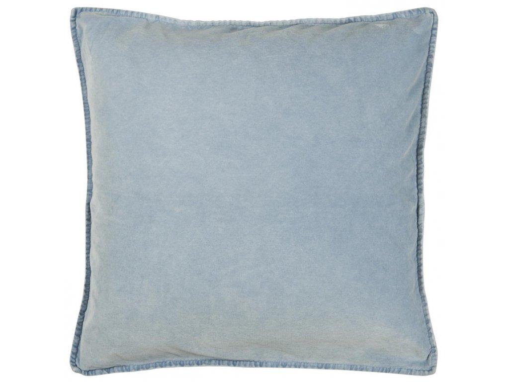 Sametový povlak na polštář bledě modrý Ib Laursen