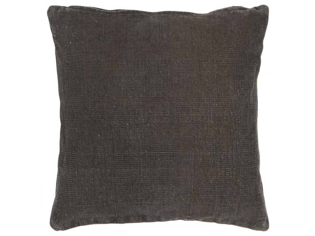 Povlak na polštář tmavě hnědý