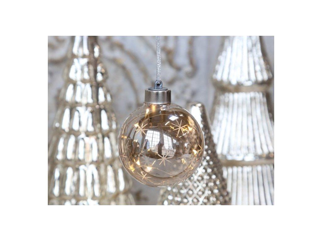 Vánoční ozdoba koule s LED