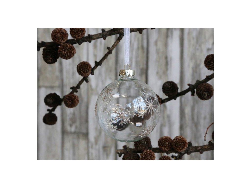 Vánoční ozdoba koule čirá