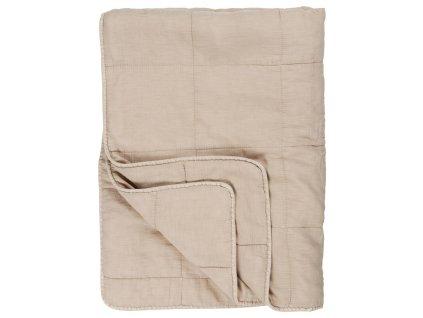 bavlněná deka béžová IB Laursen