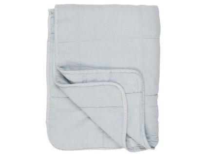 bavlněná deka světle modrá IB Laursen