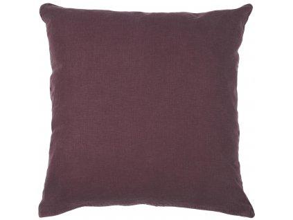 Lněný povlak na polštář barvy lilku