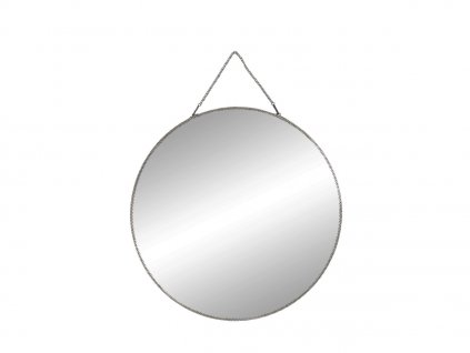 nástěnné kulaté zrcadlo s řetízkem