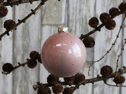 Vánoční ozdoba starorůžová
