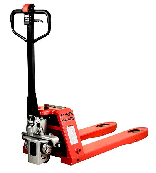 Poloelektrický ručný paletový vozík s nosnosťou 1500kg - ET15MH