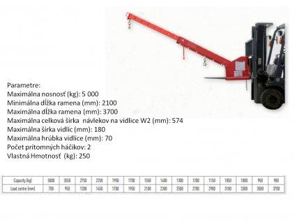 zeriavove rameno 5000 kg