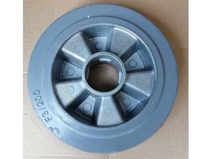 Predné gumenné koliesko na paletový vozík 200x50 mm - šedá farba