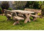 Venkovní betonové lavičky a stoly