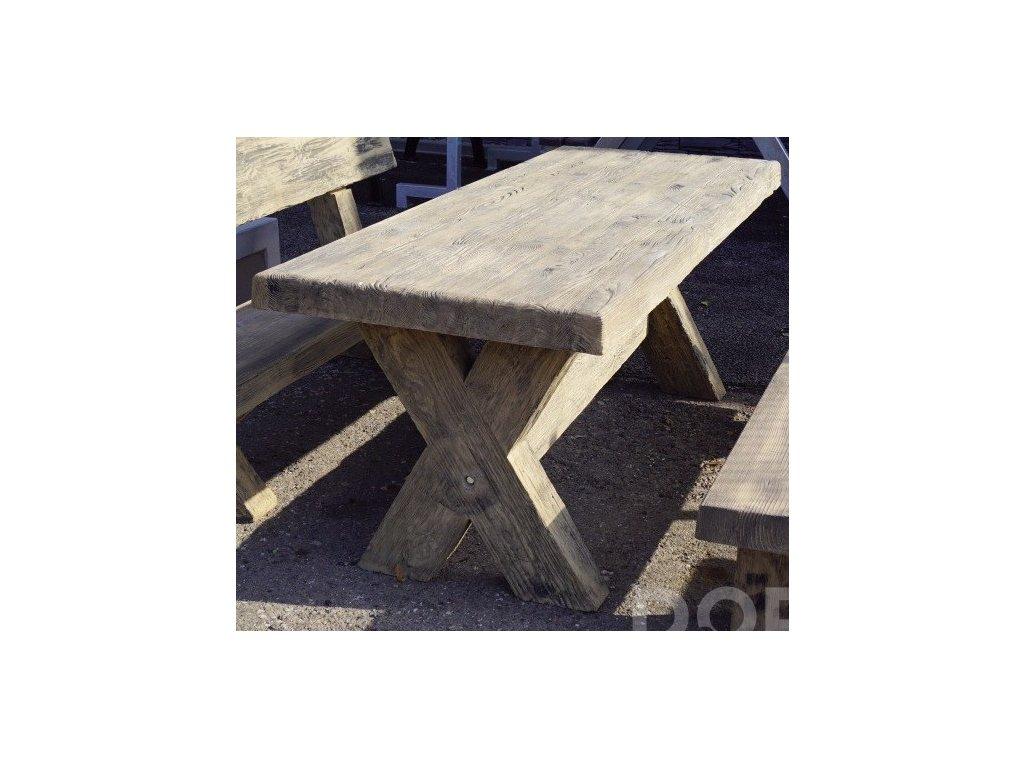 stul imitace dreva beton profiba