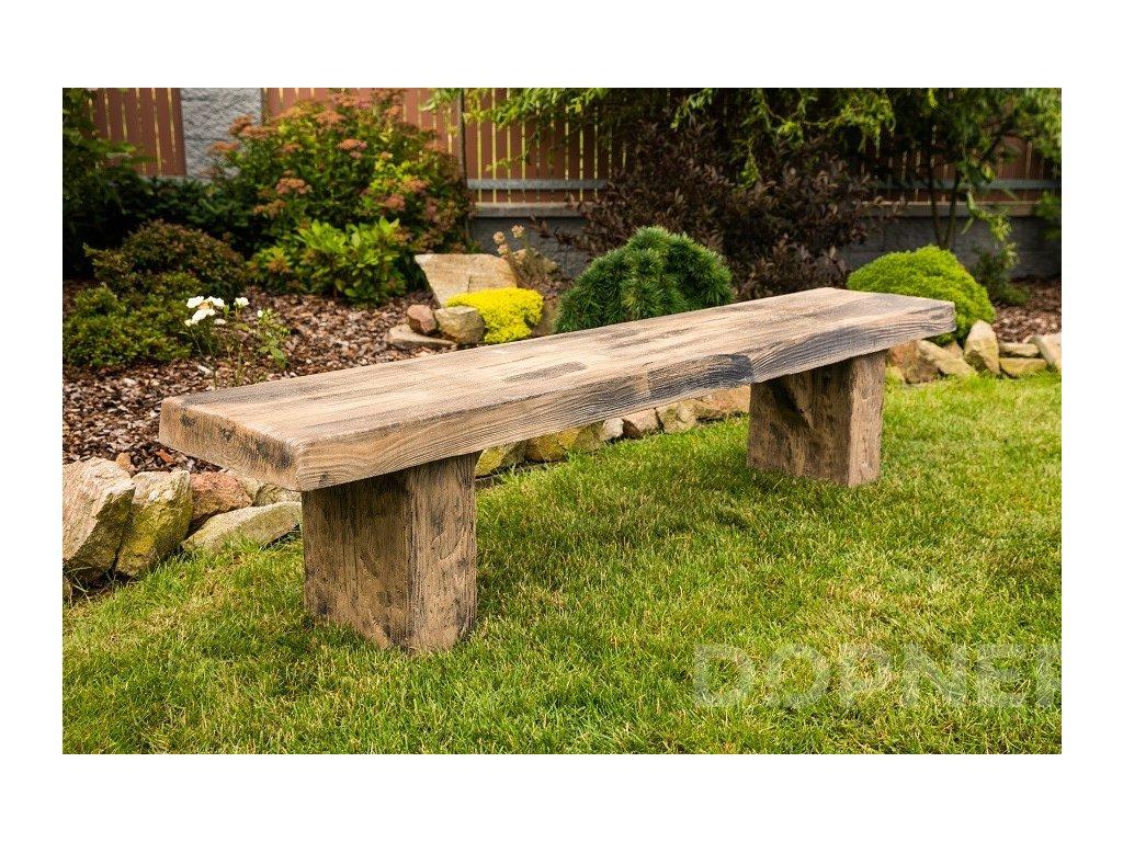 lavice bez operadla imitace dreva