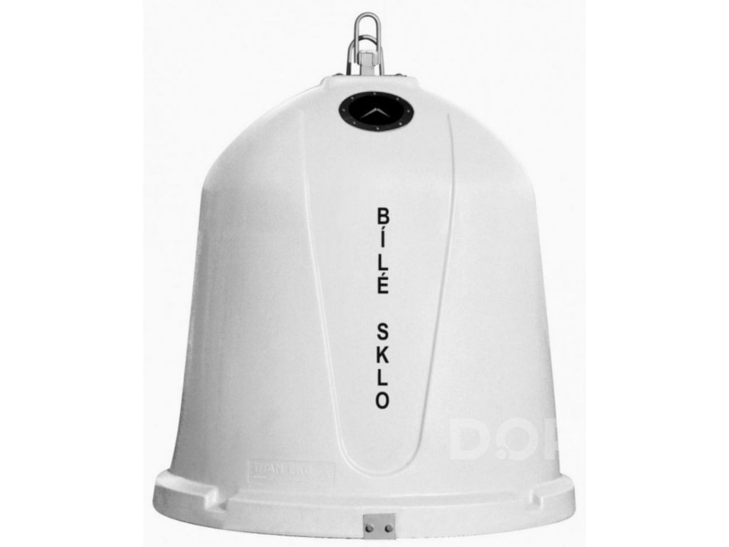Zvonový kontejner - ZVON 1,5 m3 BÍLÝ - ČIRÉ SKLO