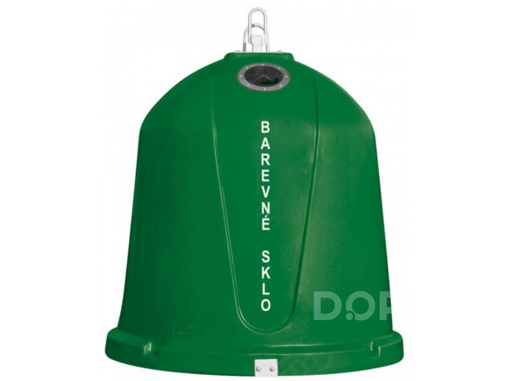 Zvonový kontejner - ZVON 1,5 m3 ZELENÝ - BAREVNÉ SKLO