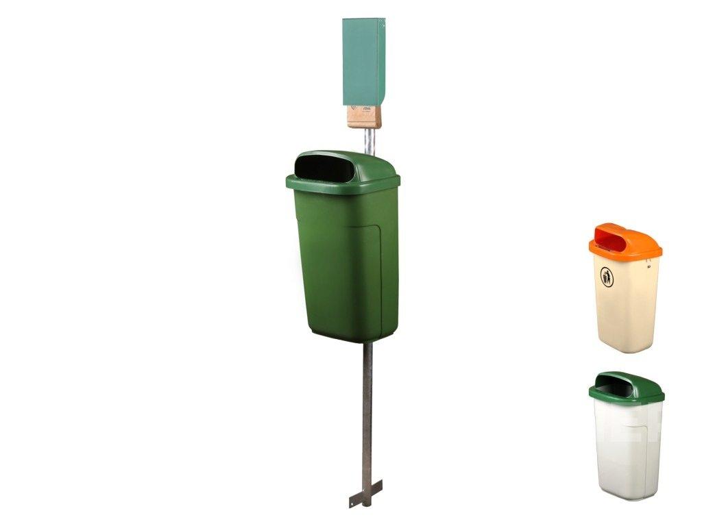 Odpadkový koš CLASSIC 50l DIN vč. sloupku