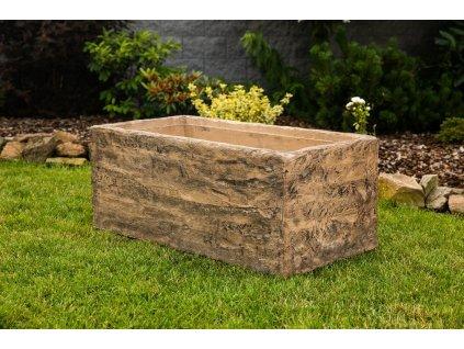 betonovy truhlik imitace dreva