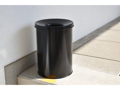 Odpadkový koš / popelník s protipožárním víkem 18 l
