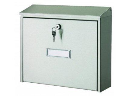 Nerezová poštovní schránka - venkovní s klíčem