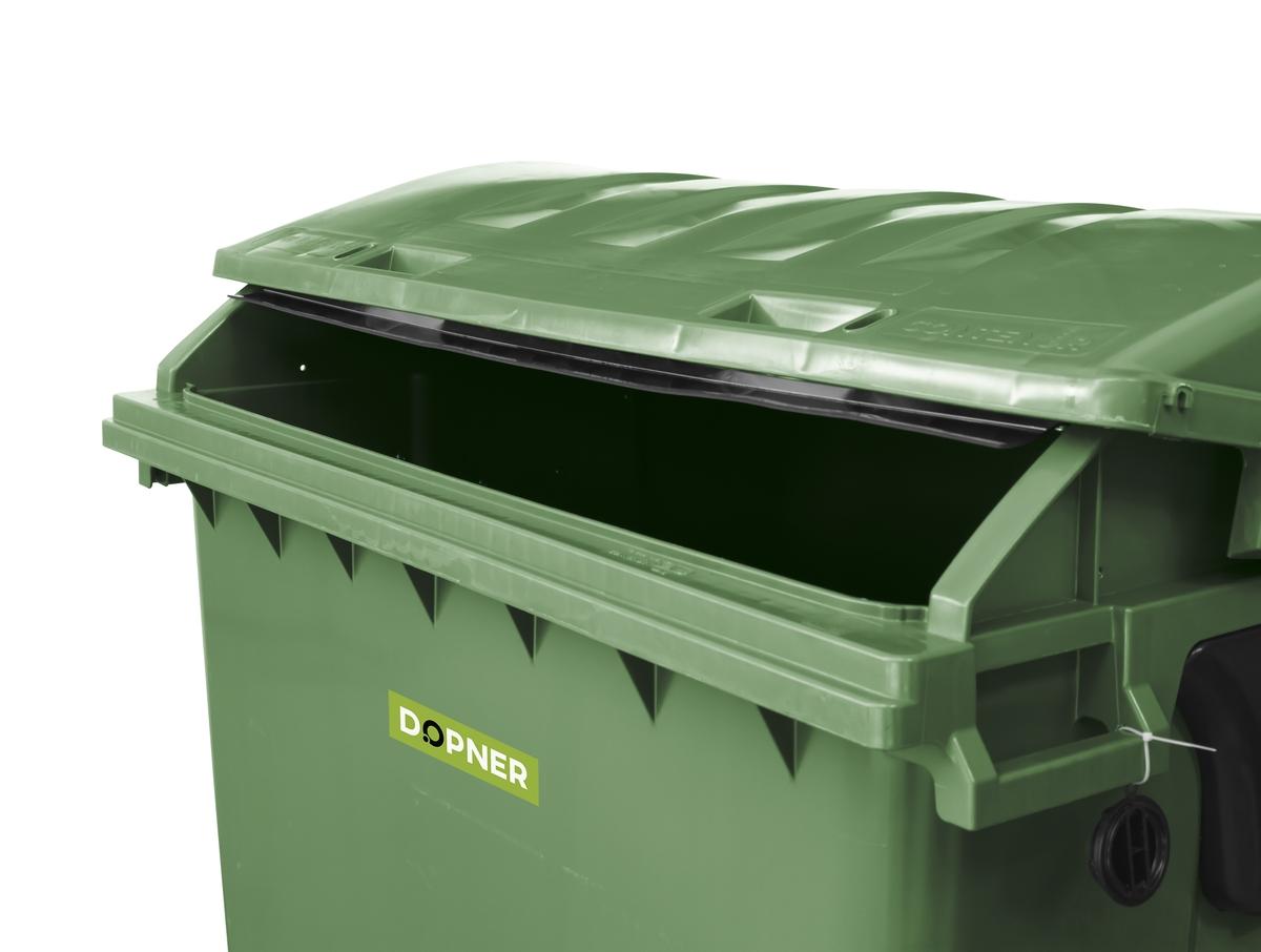 Kontejner 1100 l plastový DOPNER, zelený