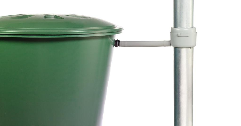 Sběrač dešťové vody s filtrem, šedý
