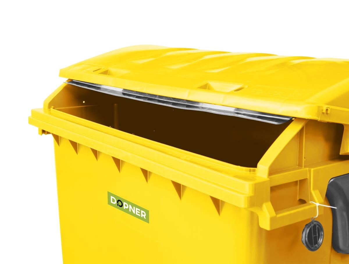 Kontejner 1100 l plastový DOPNER, žlutý