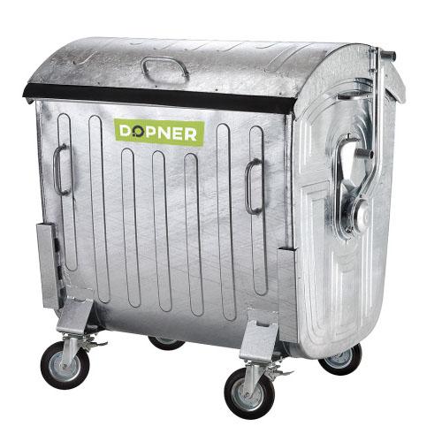 Kontejner 1100 l plechový DOPNER, pozinkovaný