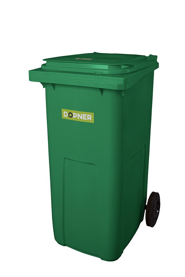 Plastová popelnice DOPNER 240 l - zelená