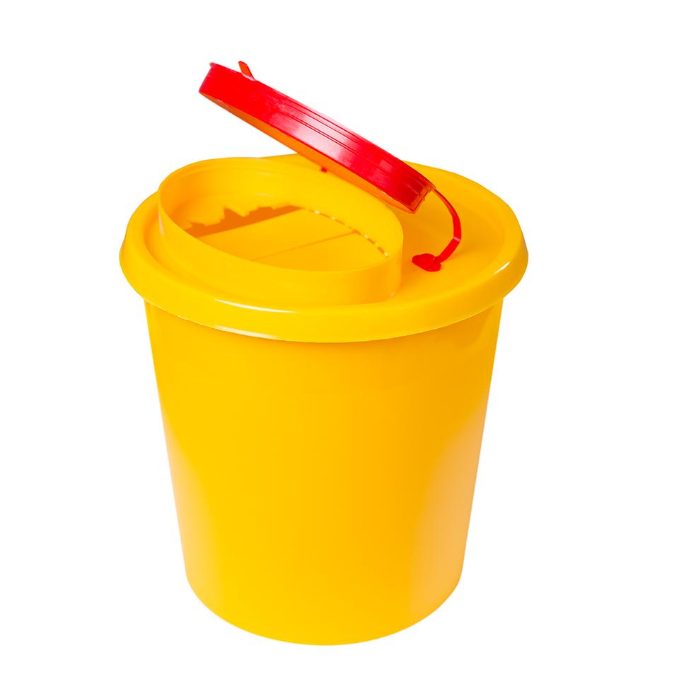 Nádoba na zdravotnický odpad (použité jehly) 1,5l - žlutá