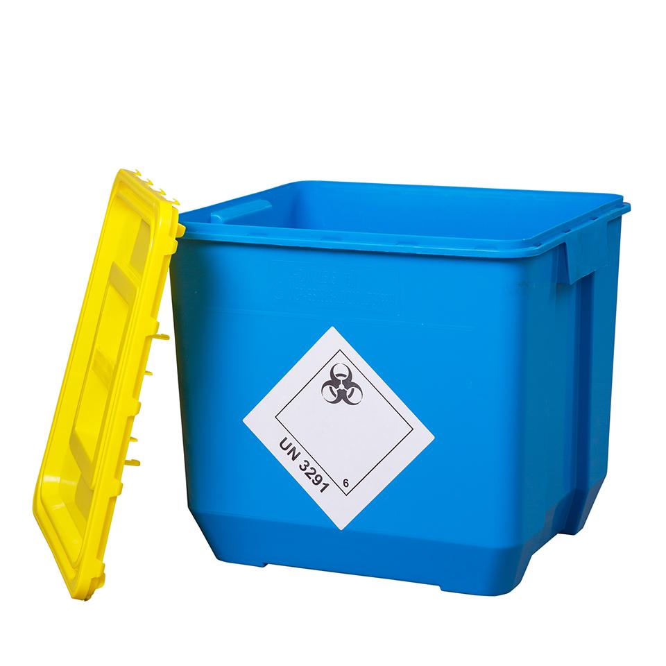 Klinik box (nádoba na nebezpečný odpad) 30l modrá - UN kónická
