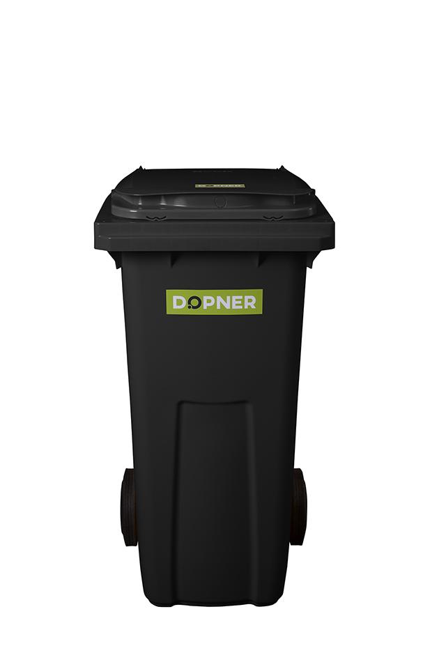 Plastová popelnice DOPNER 120 l - černá