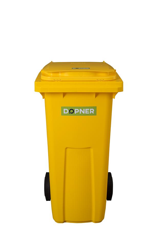 Plastová popelnice DOPNER 120 l - žlutá