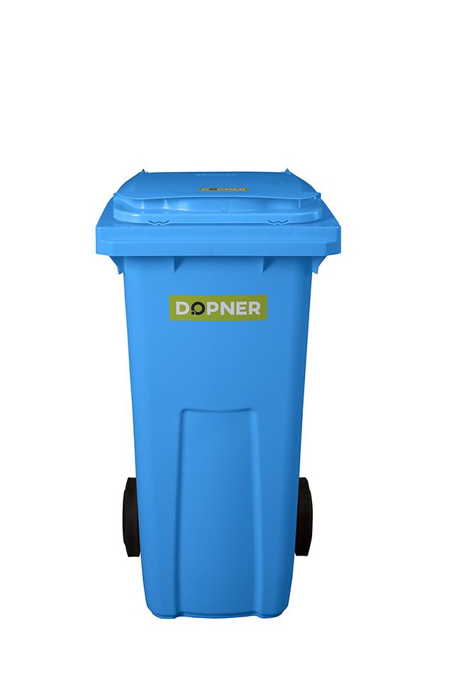 Plastová popelnice DOPNER 120 l - modrá