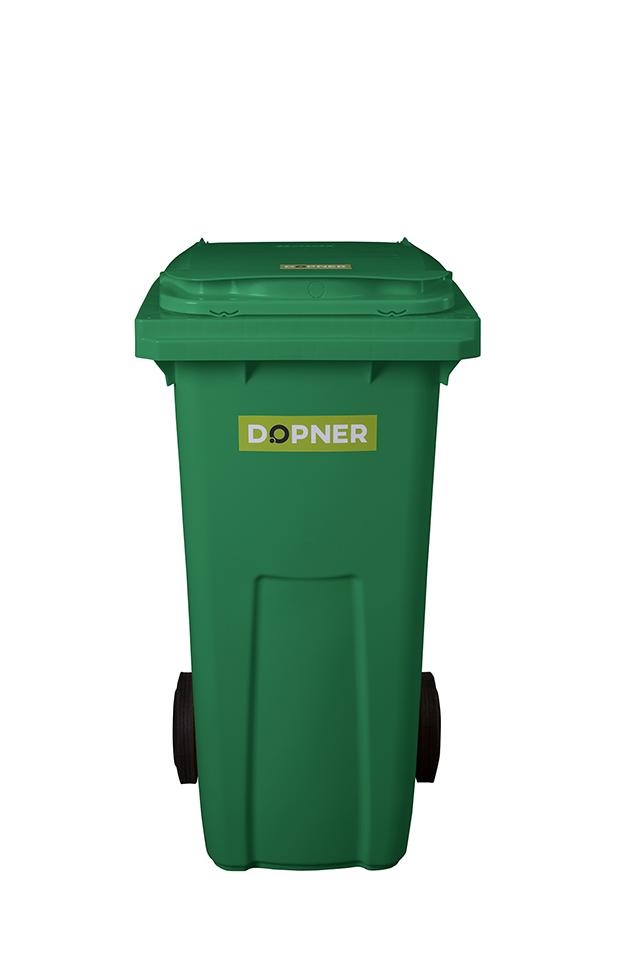 Plastová popelnice DOPNER 120 l - zelená