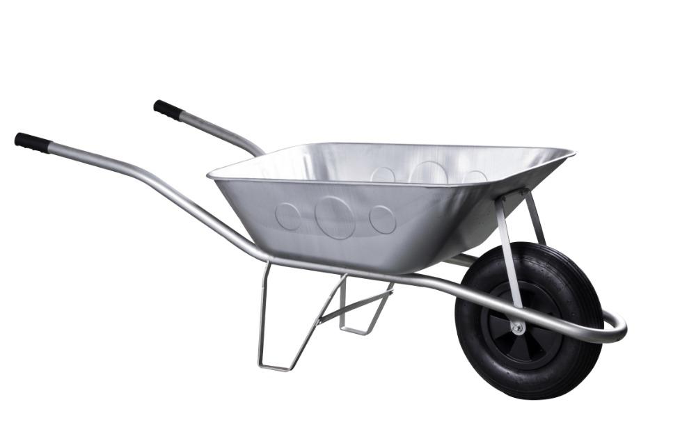 Kolečko stavební - 80 l korba, nafukovací kolo