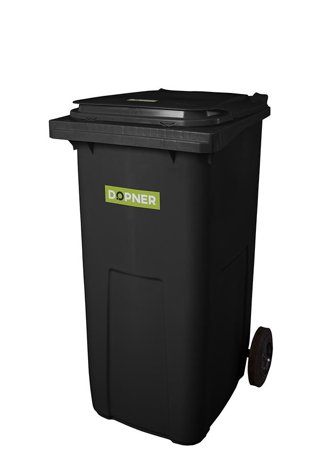 Plastová popelnice DOPNER 240 l - černá