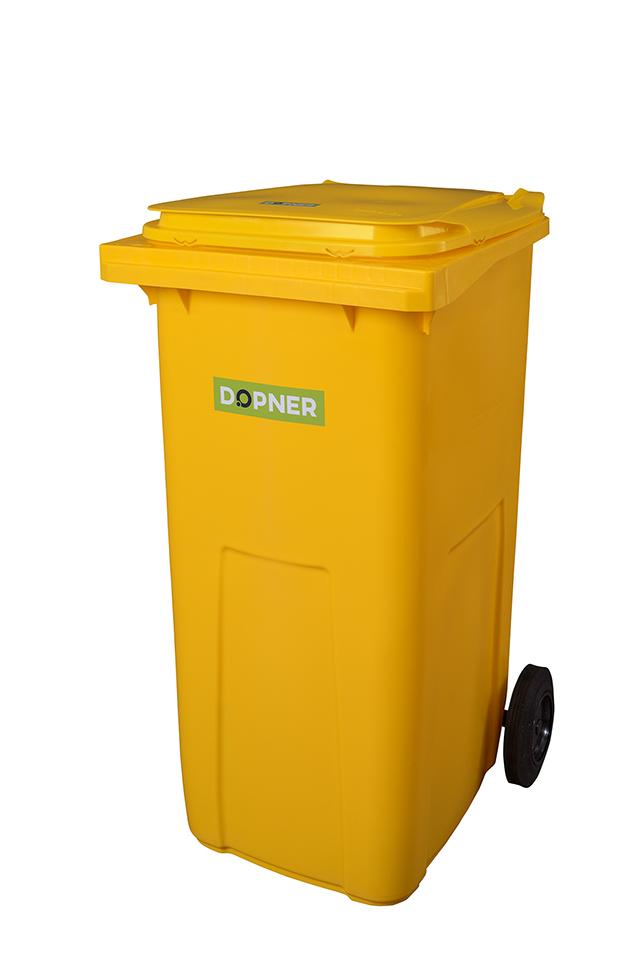 Plastová popelnice DOPNER 240 l - žlutá
