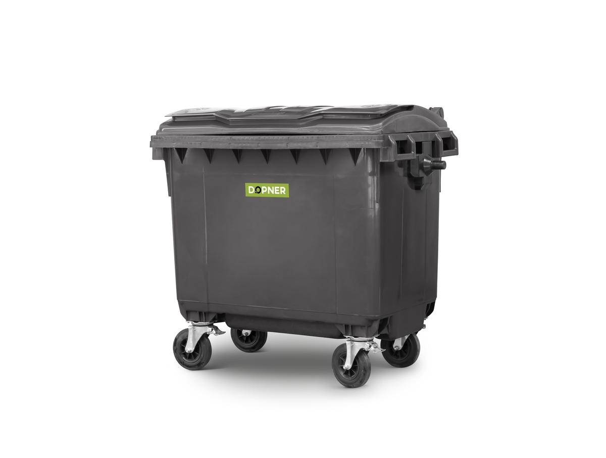 Kontejner 660 l plastový DOPNER, černý